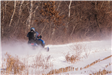 Snowmobiler on Trails