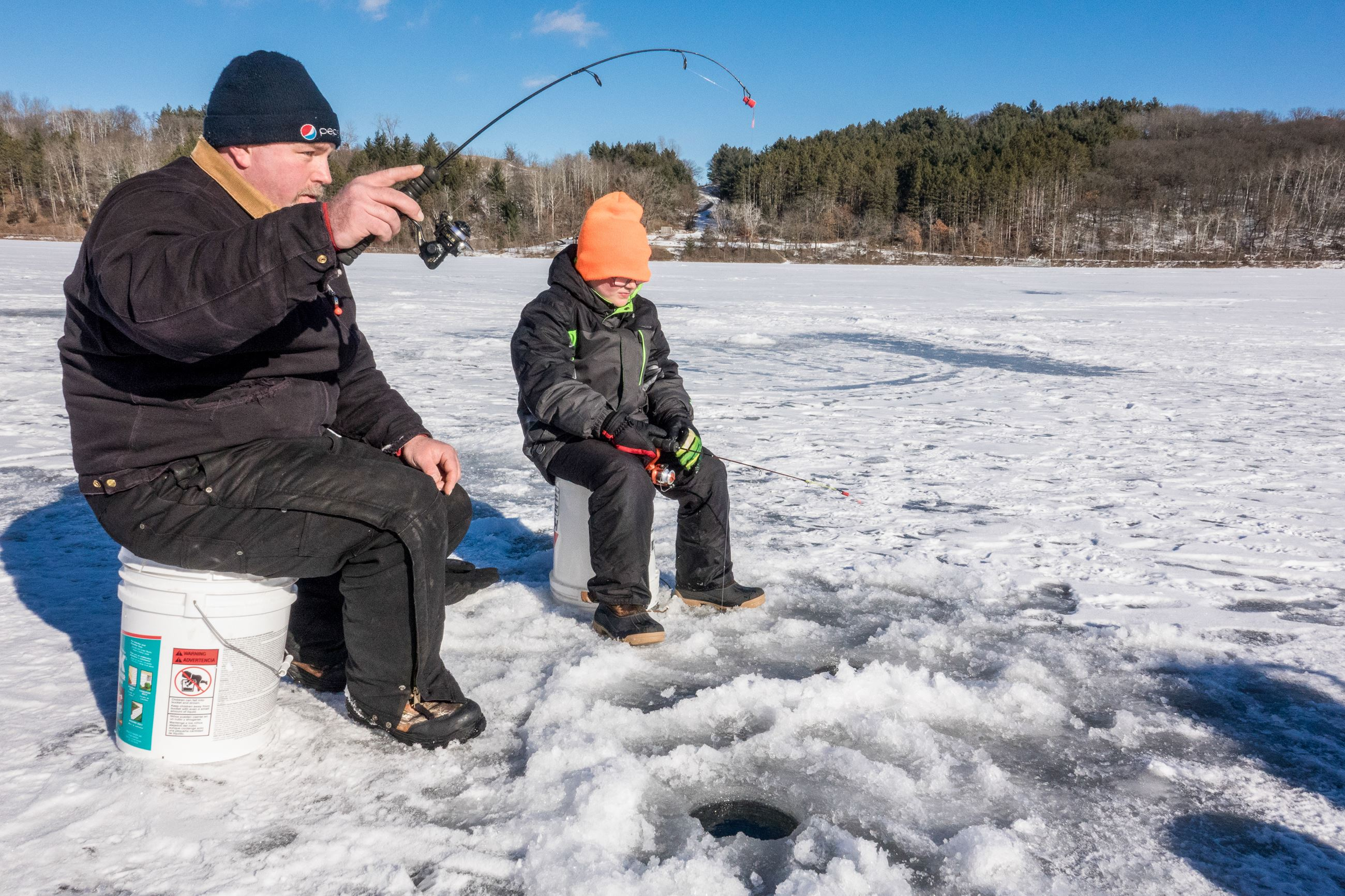 Adult and Child Ice Fishing