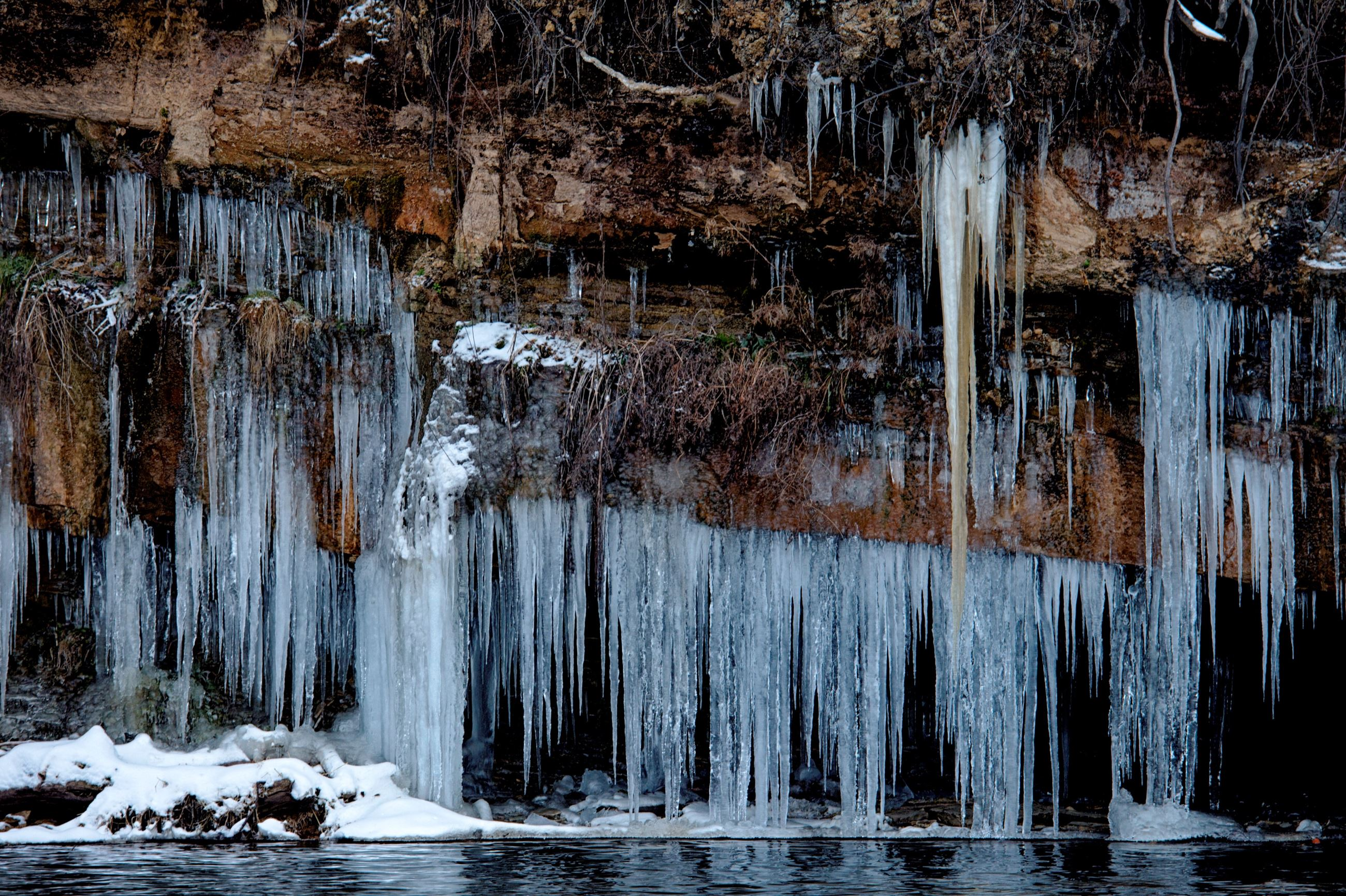 Icicles at Willow River Falls