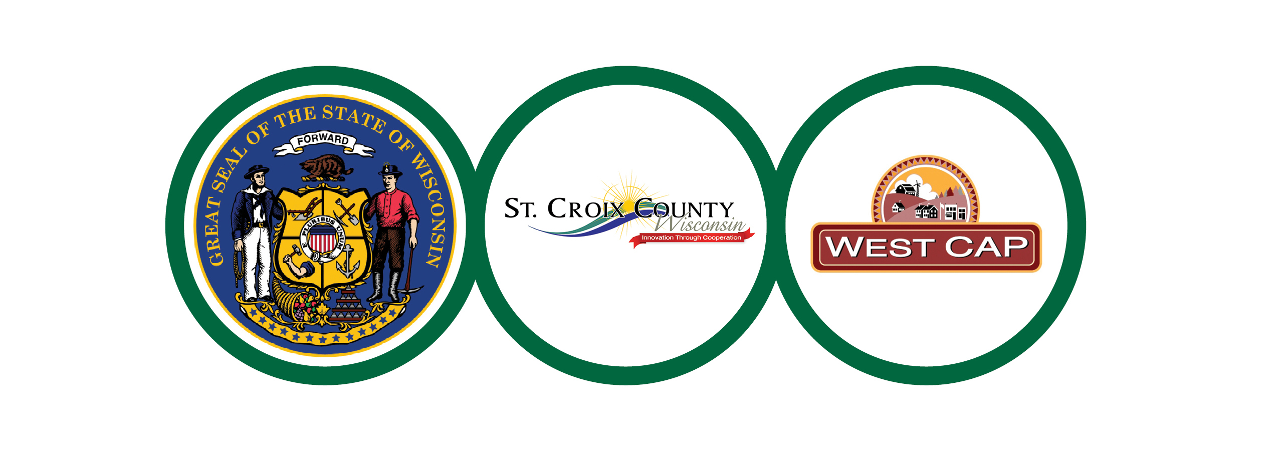 St Croix County, State of WI, and WestCap Ribbon Logo